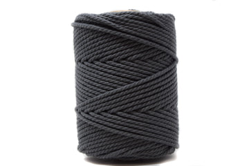 COTTON ROPE ZERO WASTE 3 MM - 3 PLY - CHARCOAL GRAY COLOR
