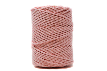 COTTON ROPE ZERO WASTE 3 MM - 3 PLY - CHERRY BLOSSOM PINK COLOR