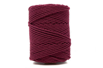 COTTON ROPE 3 MM - 3 PLY - BORDEAUX COLOR