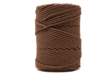 COTTON ROPE ZERO WASTE 3 MM - 3 PLY - CHOCOLATE COLOR