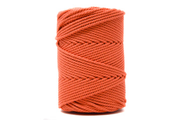 COTTON ROPE ZERO WASTE 3 MM - 3 PLY - GRAPEFRUIT COLOR