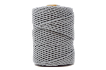 COTTON ROPE 3 MM - 3 PLY - GRAY COLOR