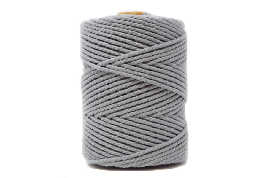COTTON ROPE ZERO WASTE 3 MM - 3 PLY - SOFT GRAY COLOR
