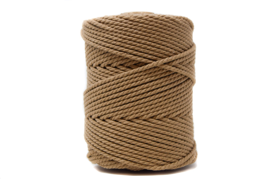 COTTON ROPE 3 MM - 3 PLY - SAND COLOR