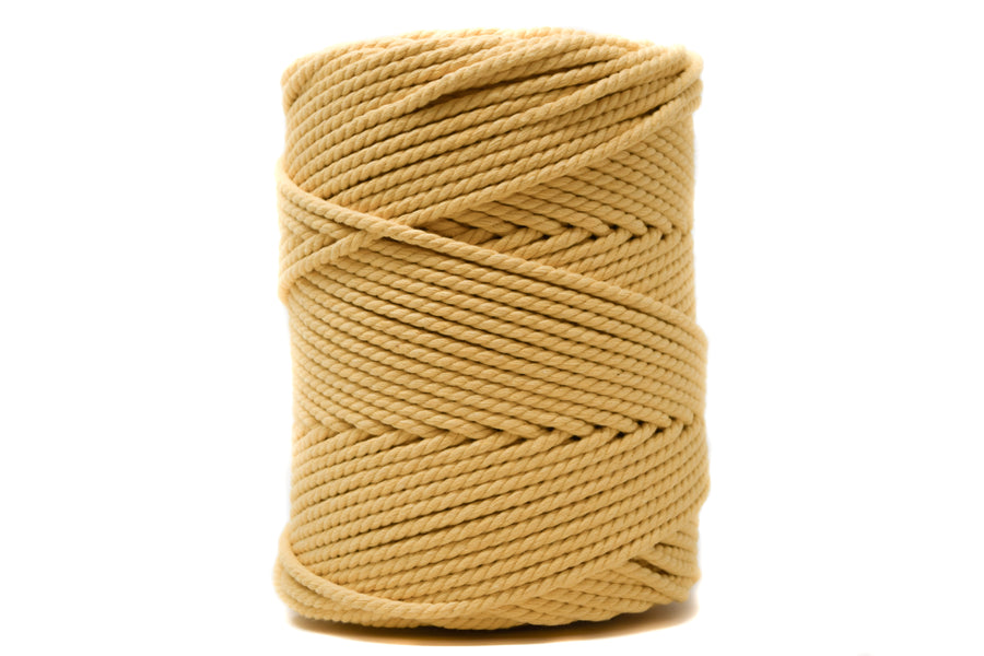 COTTON ROPE 3 MM - 3 PLY - SUNFLOWER YELLOW COLOR