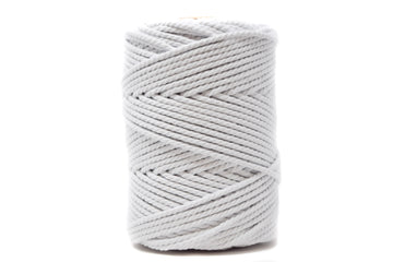 COTTON ROPE ZERO WASTE 3 MM - 3 PLY - WHITE COLOR