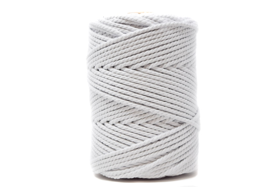 COTTON ROPE 3 MM - 3 PLY - WHITE COLOR