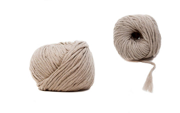 COTTON BALL ZERO WASTE 3 MM - LIGHT TAUPE COLOR