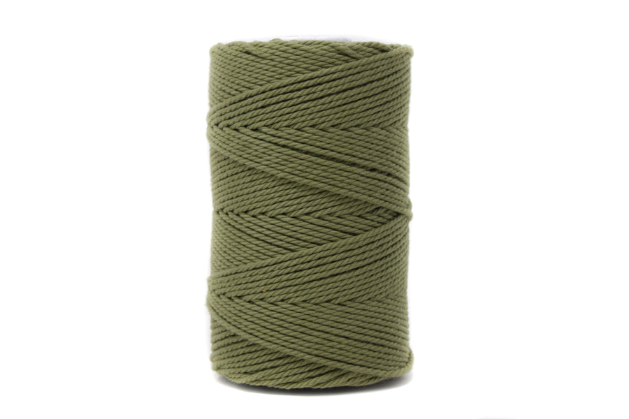 COTTON ROPE 2 MM - 3 PLY - MOSS GREEN COLOR