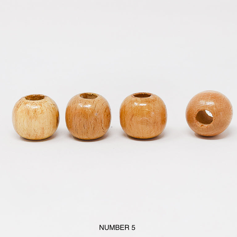 Wood beads balls for macrame, garlands and crafts