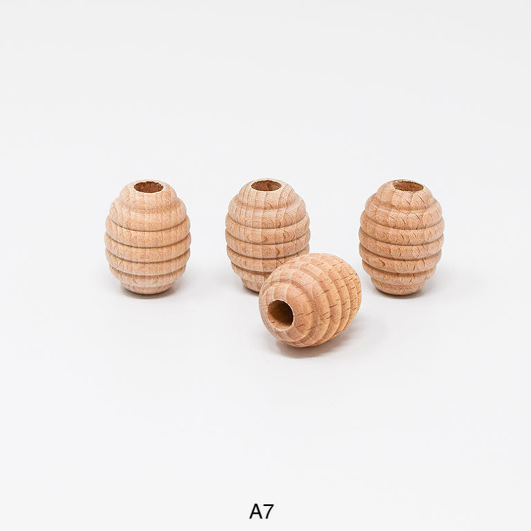 Wood beads for macrame, garlands and crafts