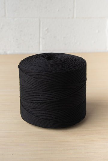 PREMIUM SOFT COTTON CORD 4 MM - BLACK COLOR