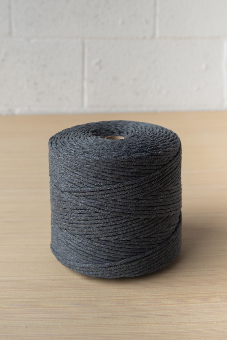 SOFT COTTON CORD ZERO WASTE 4 MM - 1 SINGLE STRAND - CHARCOAL GRAY COLOR
