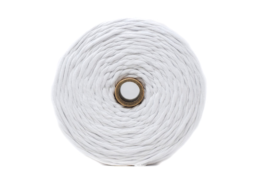 SOFT COTTON CORD ZERO WASTE 4 MM - 1 SINGLE STRAND - WHITE COLOR