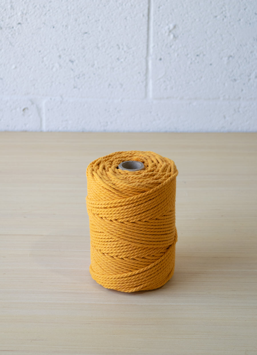 COTTON ROPE 3 MM - 3 PLY - TANGERINE COLOR