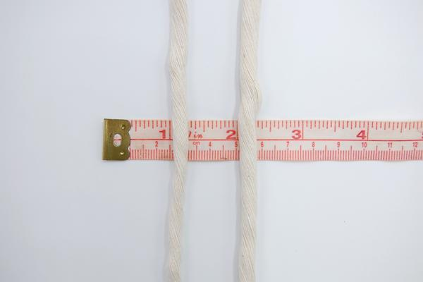 SOFT COTTON CORD 6 MM - 1 SINGLE STRAND - NATURAL COLOR