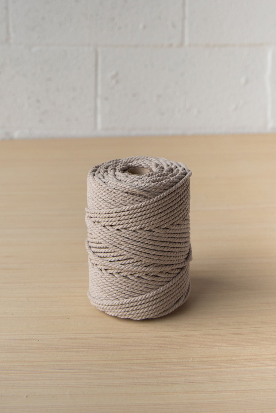 COTTON ROPE ZERO WASTE 3 MM - 3 PLY - BEIGE COLOR