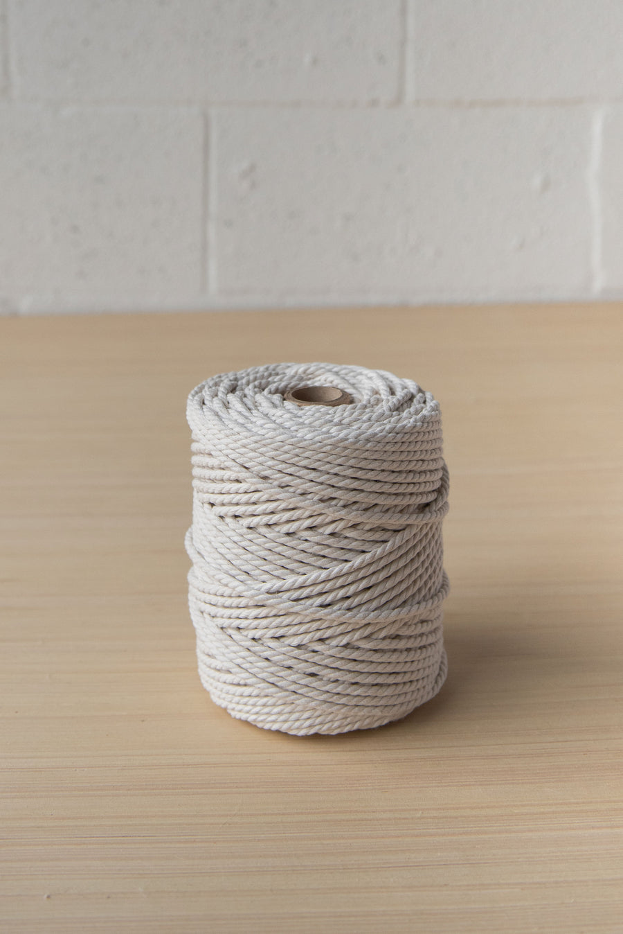 COTTON ROPE ZERO WASTE 3 MM - 3 PLY - NATURAL COLOR
