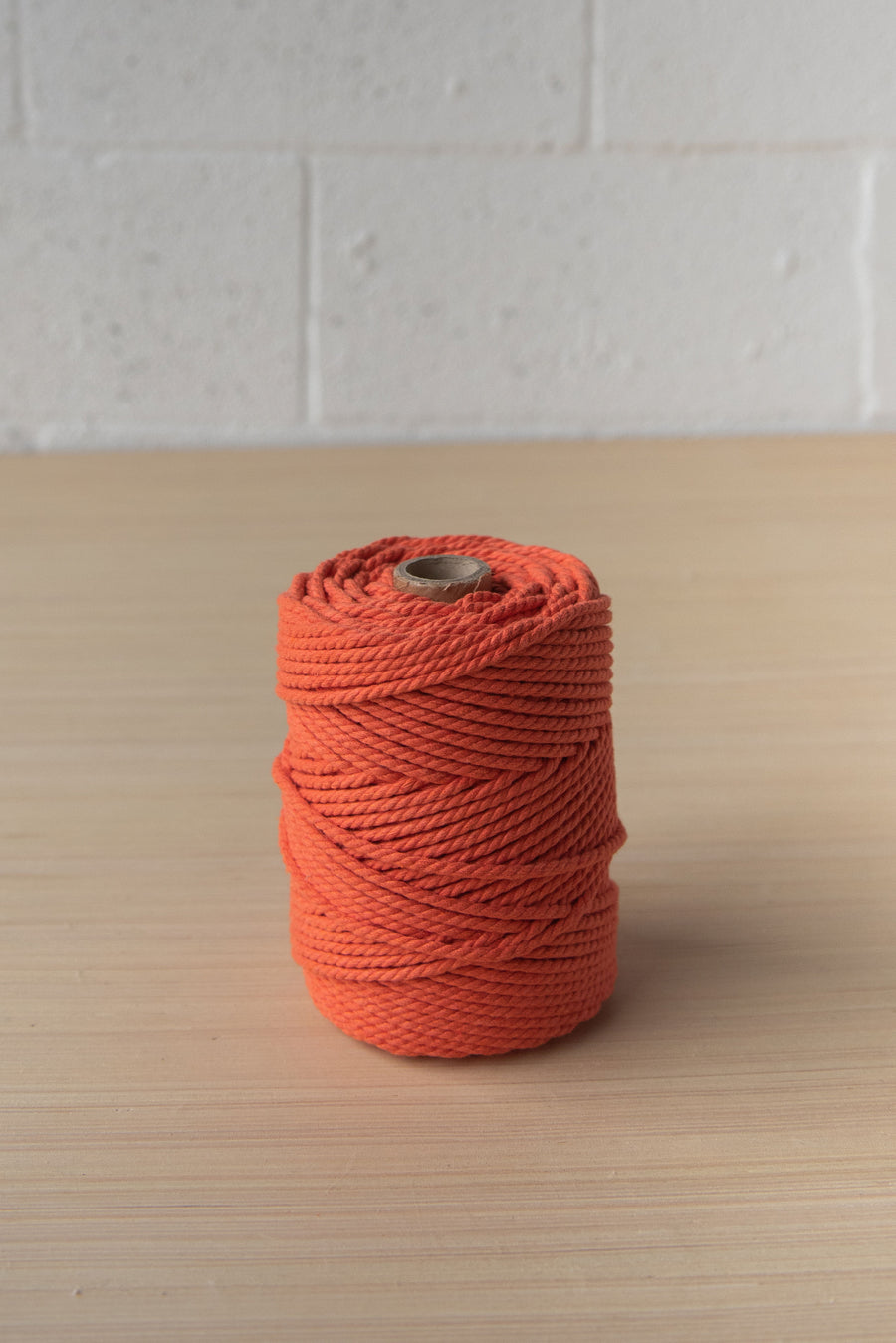 COTTON ROPE 3 MM - 3 PLY - PAPRIKA COLOR