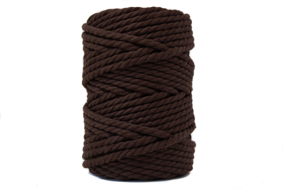COTTON ROPE ZERO WASTE 5 MM - 3 PLY - CHOCOLATE COLOR