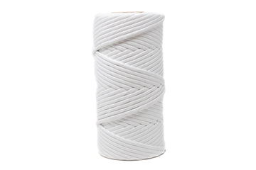 SOFT COTTON CORD 8 MM - 1 SINGLE STRAND - WHITE COLOR