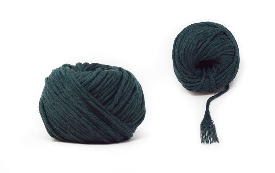 COTTON BALL ZERO WASTE 3 MM - FOREST GREEN COLOR