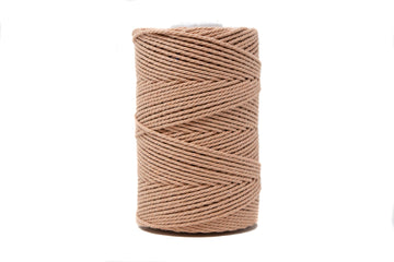 COTTON ROPE 2 MM - 3 PLY - DUSTY ROSE COLOR