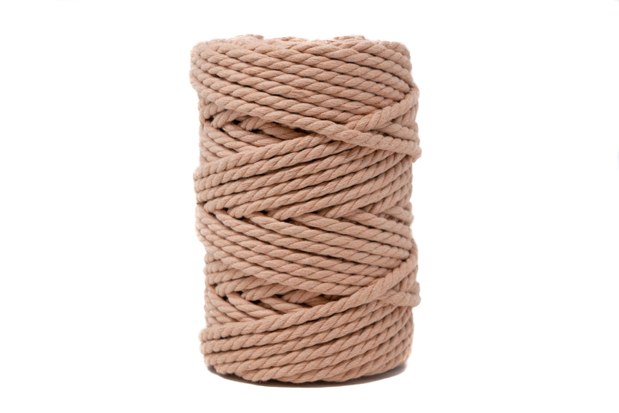 COTTON ROPE ZERO WASTE 5 MM - 3 PLY - DUSTY ROSE COLOR