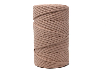 JUMBO SOFT COTTON CORD 8 MM - 1 SINGLE STRAND - DUSTY ROSE COLOR