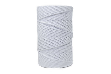 SOFT COTTON CORD 6 MM - 1 SINGLE STRAND - WHITE COLOR