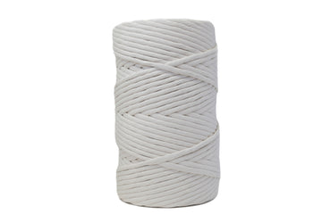 JUMBO SOFT COTTON CORD 8 MM - 1 SINGLE STRAND - NATURAL COLOR