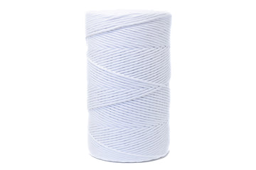 soft cotton cord 4mm - white color