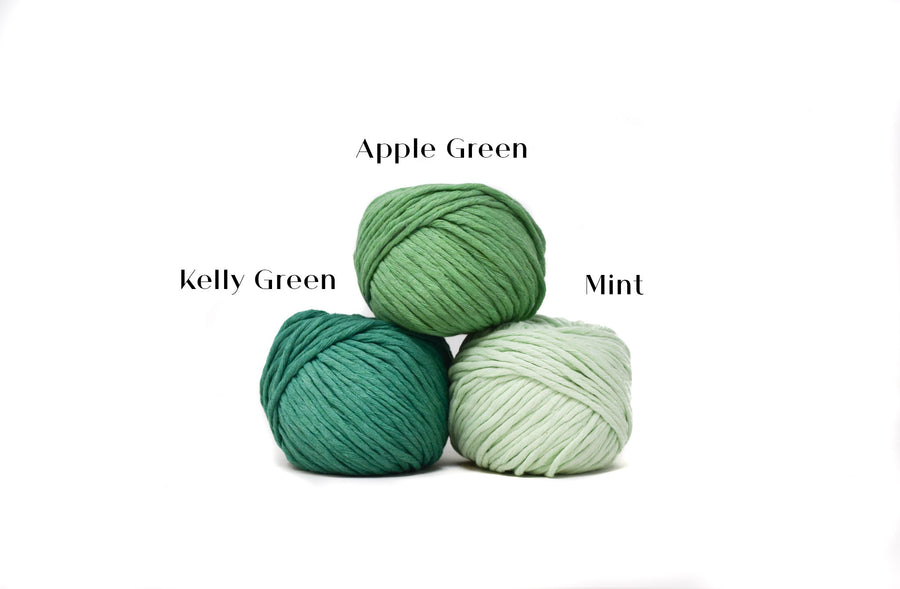 COTTON BALL ZERO WASTE 3 MM - KELLY GREEN COLOR
