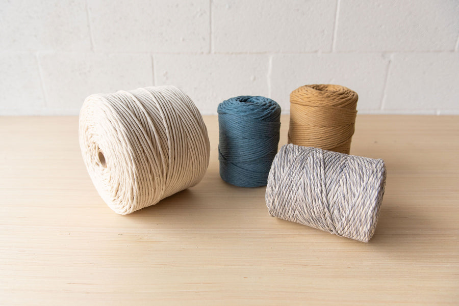 PREMIUM SOFT COTTON CORD 4 MM - AQUAMARINE COLOR