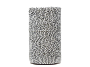COTTON WARP 1.5 MM - WHITE/GRAY COLOR