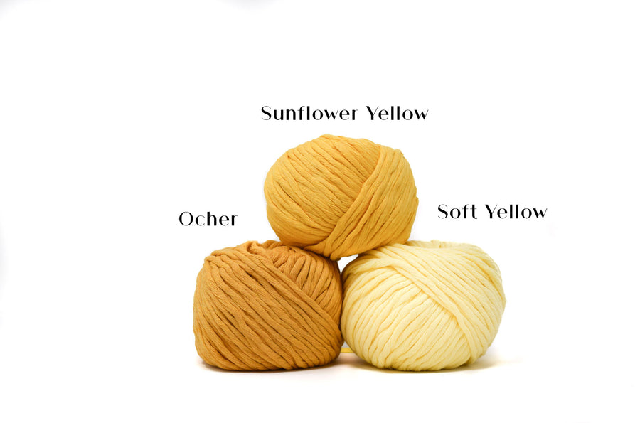 COTTON BALL ZERO WASTE 3 MM - SOFT YELLOW COLOR