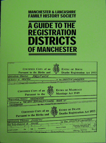 Guide to Registration Districts of Manchester