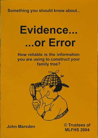 Something You Should Know about Evidence or Error