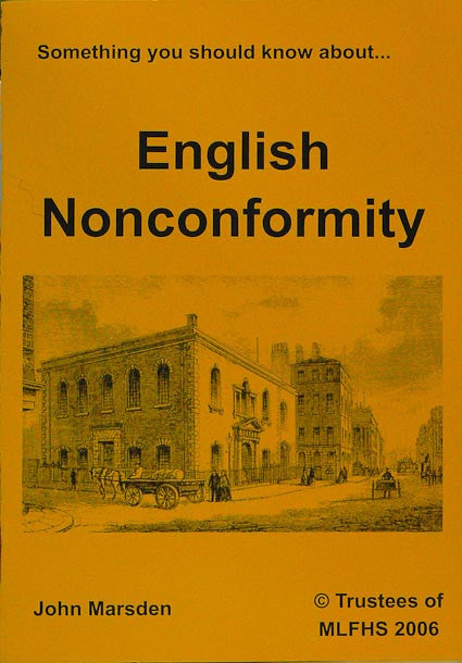 Something You Should Know about English Nonconformity
