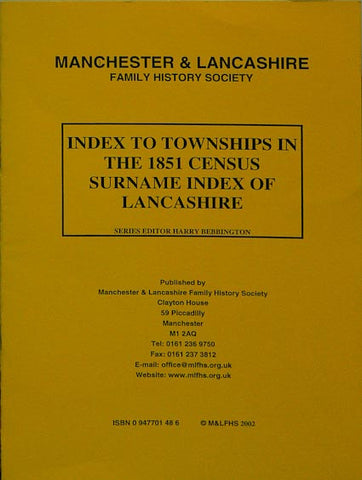 Index to Townships - 1851 Census Surname Indexes
