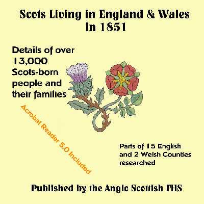 Scots Living in England & Wales 1851 CDROM