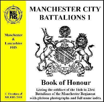 Manchester City Battalions 1 - Book of Honour
