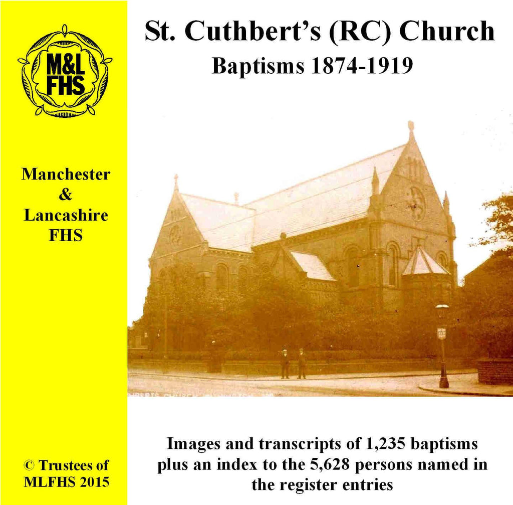 Manchester, St. Cuthbert's (RC) Church Baptisms 1874-1919