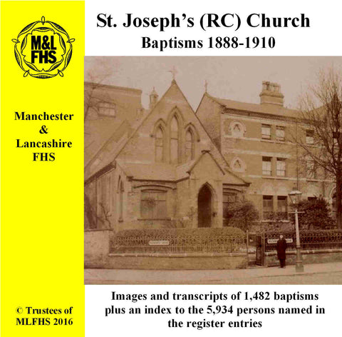St. Joseph's (RC) Church, Baptisms 1888-1910