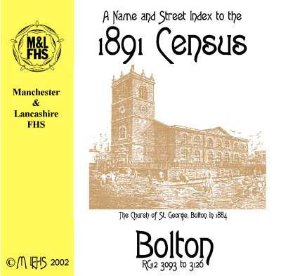 1891 Census Index - Bolton