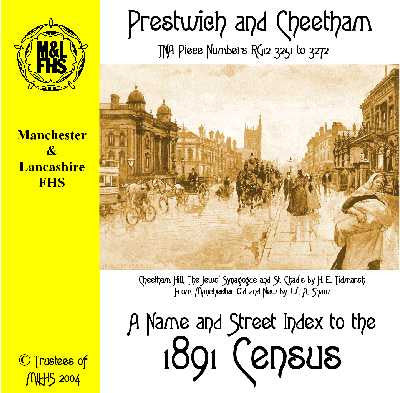 1891 Census Index - Prestwich & Cheetham