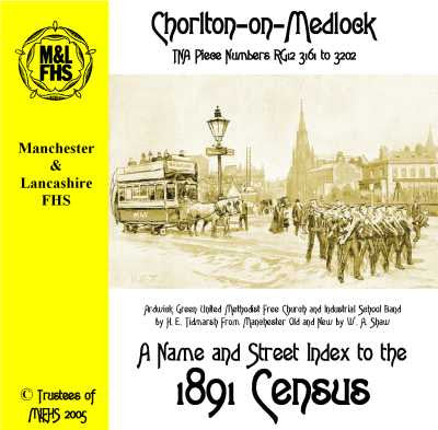 1891 Census Index - Chorlton-on-Medlock