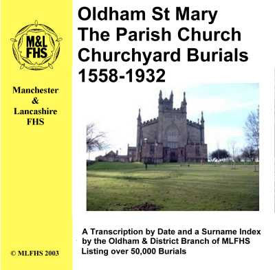 Oldham St. Mary Burials 1558-1932