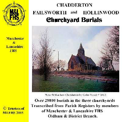 Chadderton, Failsworth & Hollinwood Churchyard Burials