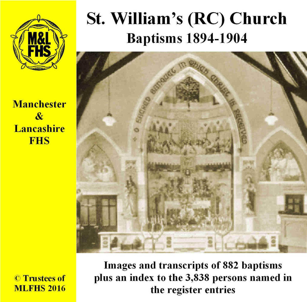 Manchester, St. William's (RC) Church, Baptisms 1894-1904